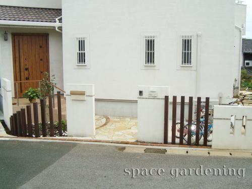 施工例画像:千葉市 門扉なし外構