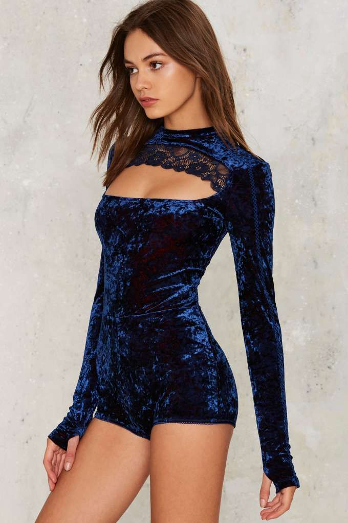 Hot as Hell Hole in One Cut-Out Bodysuit - Clothes   Velvet   Bodysuits   Velvet   Bodysuits