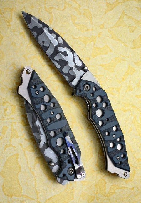 NEMESIS Knives...just don't drop it. You'll never find it lol