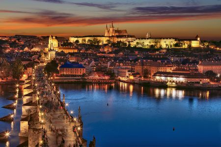 Charles Bridge at sunset Photo by G.V. S. — National Geographic Your Shot