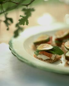 Fig & Proscuitto sandwich. Mascarpone cheese is available at Italian groceries; if you can't find it, substitute cream cheese.