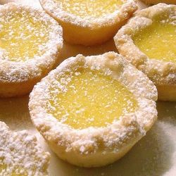 Lemon Tartlets baked in mini muffin pans with just the right balance of tart & sweet.