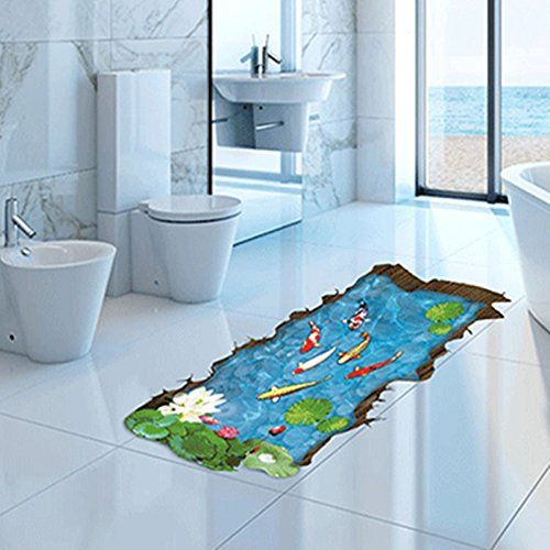 ZPL Pumi 3D Simulation Of Small Fish Stickers Wall Stickers PVC The Pool  Floor Tile Stickers