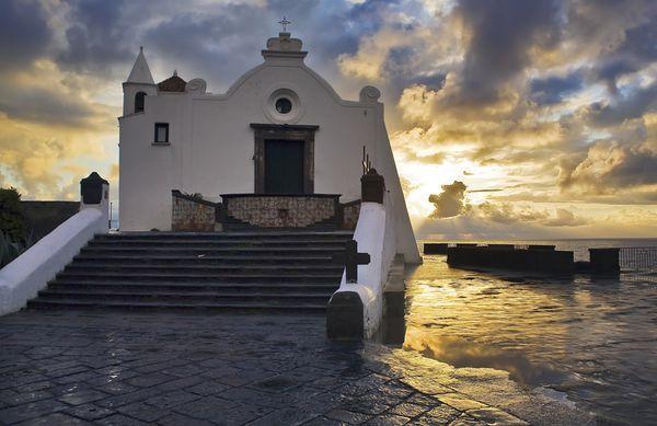 Ischia, Italy  Photograph by Giuseppe Greco   Church sunrise