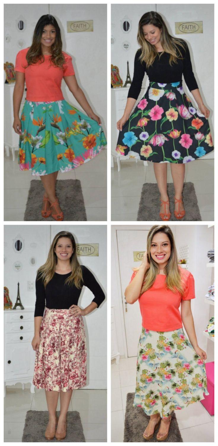 Aprenda a usar saia godê – Irmãs Reis