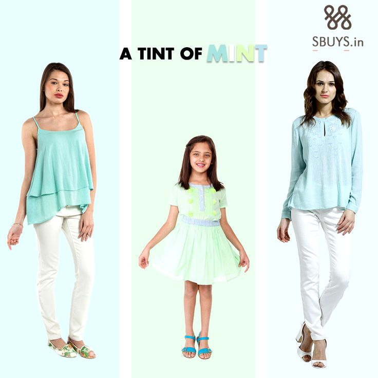 Add #freshfashion to your #wardrobe... #Shop #tint of #mint from >>> http://www.sbuys.in/