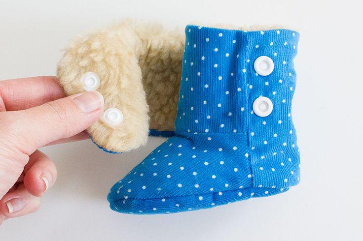 Bebilderte Nähanleitung für Baby-Winterstiefelchen | Kreativlabor Berlin