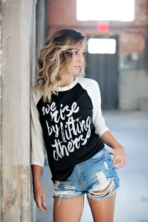 We Rise By Lifting Others Baseball Tee