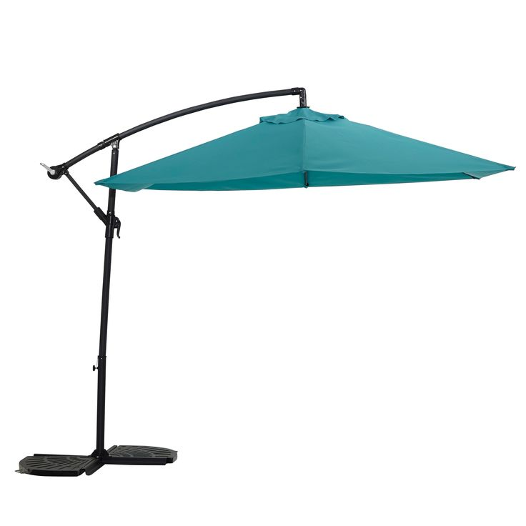 Malta 3.1m Turquoise Overhanging Parasol | Departments | DIY at B&Q