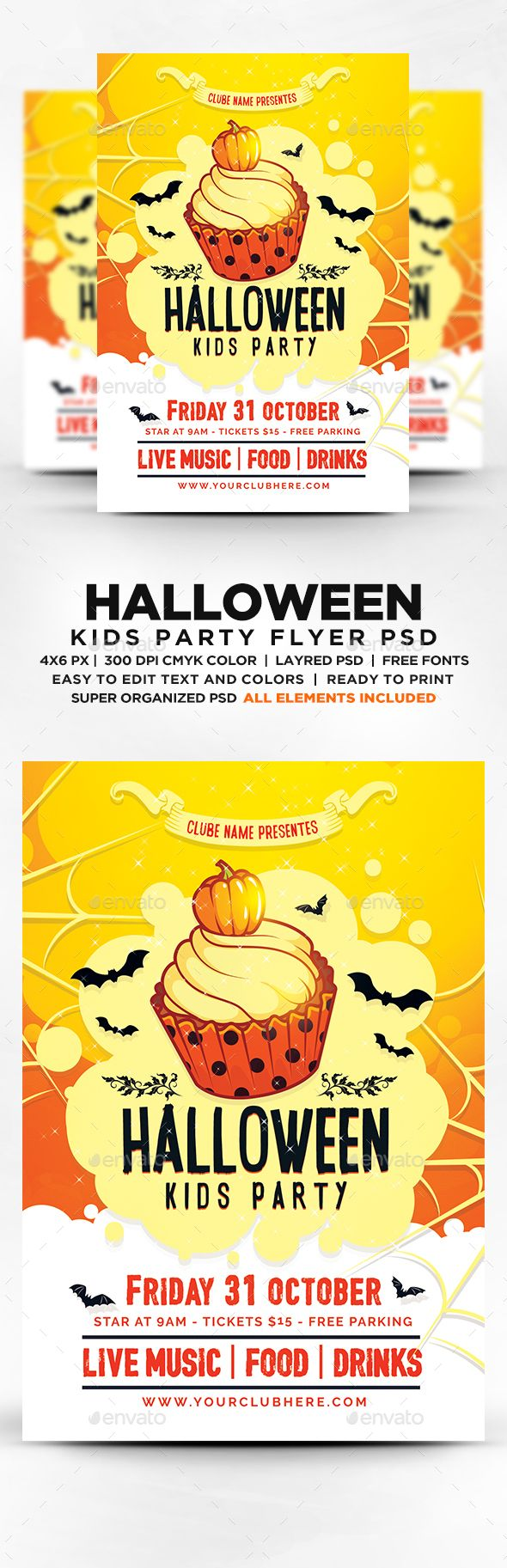 22 best Flyer // Halloween images on Pinterest