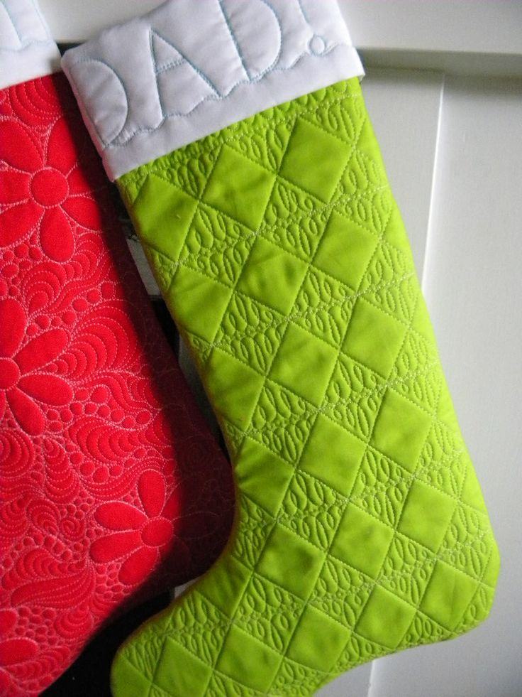 Love the quilting on these.