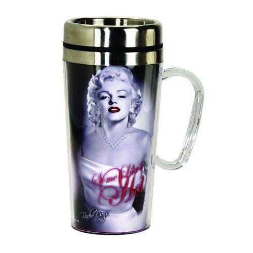 Marilyn Monroe Hot Insulated Travel Mug with Handle - Spoontiques - Marilyn Monroe - Travel Mugs at Entertainment Earth