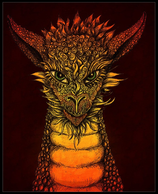 Young Fire Dragon by autumnsong2010, via Flickr