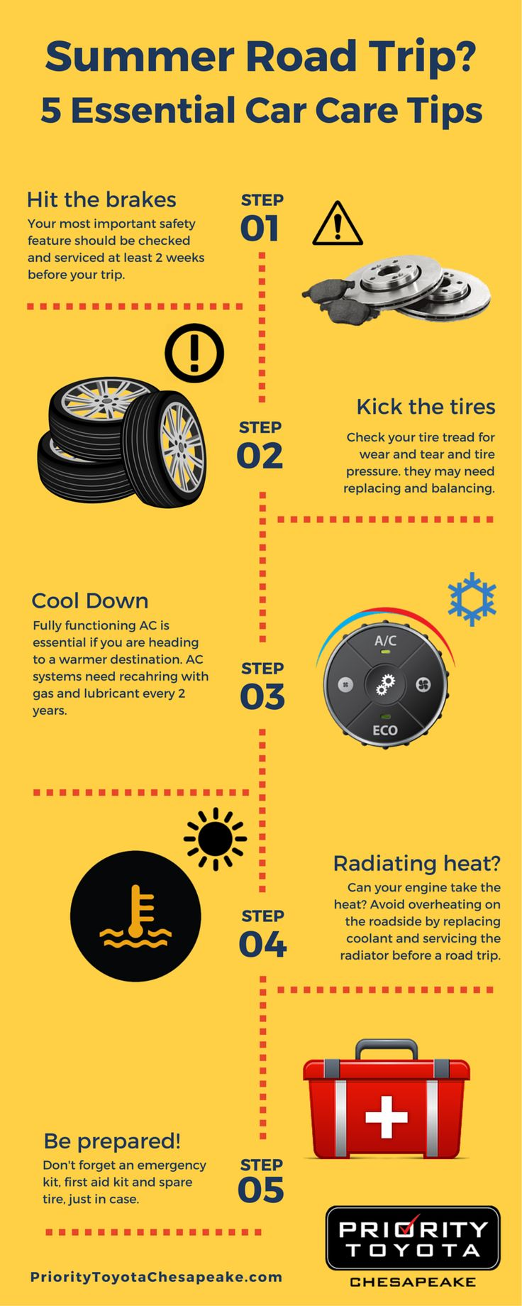 Now that summer is in full swing make sure you have your vehicle ready for any summer road trip that comes you way with