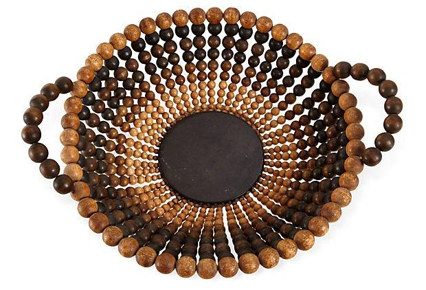 Midcentury Bowl w/ Wood Beads on OneKingsLane.com