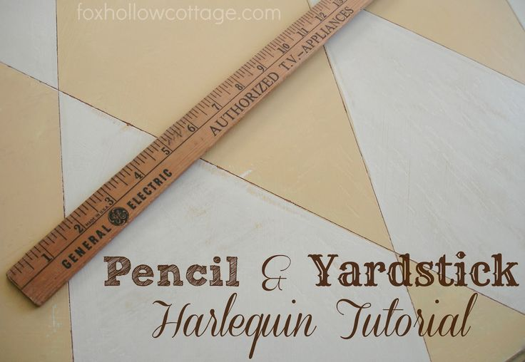 Fox Hollow Cottage: How To Paint Harlequin {a simple DIY tutorial}