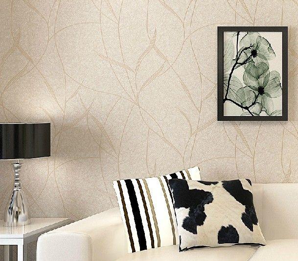 Barato folha pure papel de parede listrado moderno n o - Papel decorativo barato ...