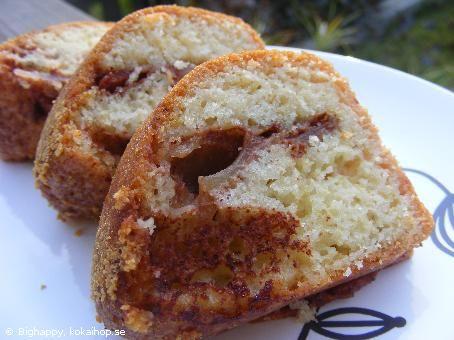 Recept - Sockerkaka med äpple och kanel