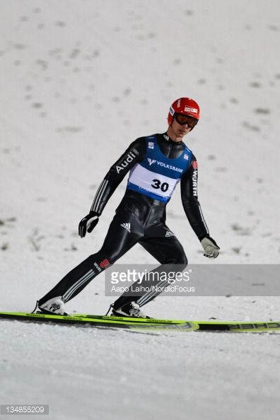 Andreas Wank of Germany competes in the Men's Ski Jumping HS138 during day two of the FIS World Cup Ski Jumping on December 4 in Lillehammer Norway