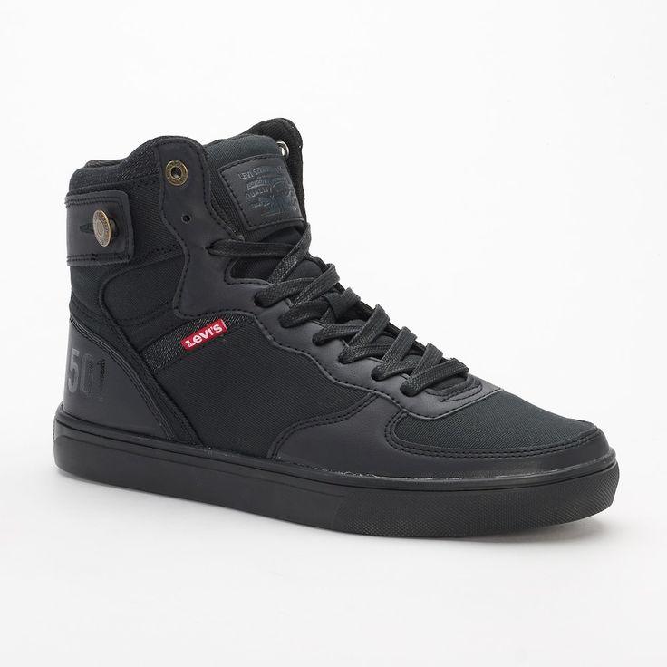 Levi's® Jeffrey Hi 501 Men's High Top Sneakers, Size: 10.5, Grey (Charcoal)