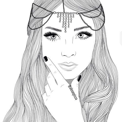 Immagini Tumblr Da Colorare Cerca Con Google Disegni Outline Tumblr Art Idee Per Disegnare