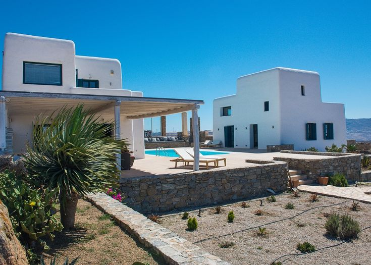 Our unique #VillaPanormos. As far as architecture and interior design are concerned this villa is the perfect example of what a traditional Myconian architecture combined with modern design and facilities can become. Developed as two separate houses enabling parallel lives in the same space and sharing support services.