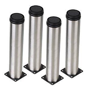 bqlzr silver 50 x 250mm cabinet metal legs adjustable