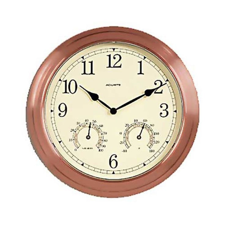 Chaney Copper 13.5 in. Outdoor Wall Clock - 00919A4