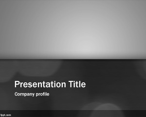 Clean Gray PowerPoint template is a free abstract PPT template slide design with black and white and scale of gray tones
