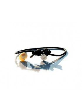 3WindsKnot Handmade Bracelet of Success, Sterling Silver Pendant on Sliding Leather. Buy @ http://thehubmarketplace.com/amber-bracelet-sterling%20silver%20925%20bracelet-leather%20bracelet #leather #bracelet #silver #pendant