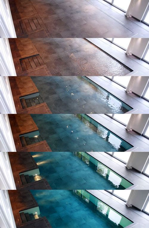 Hydro floors: the floor sinks and a pool appears. How nuts!
