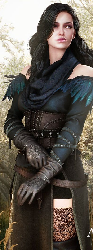 Yennefer Witcher 3 - wishing the thigh wasn't so exposed, any fighter/warrior knows they need protection on your legs, especially the inner thigh