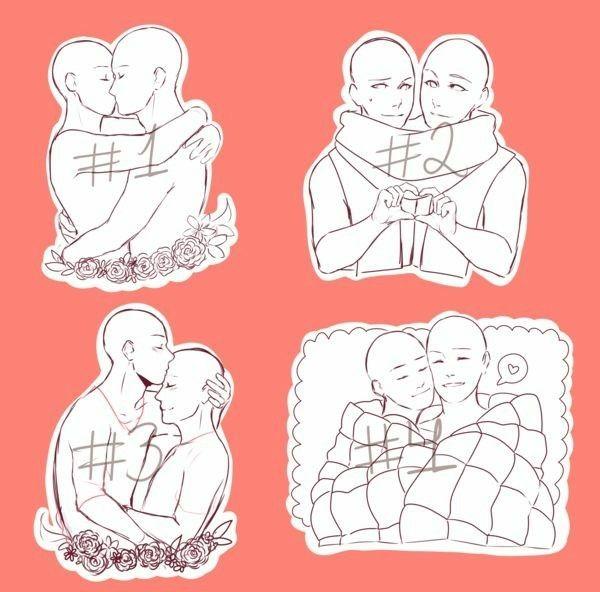 Romantic Cute Couple Art Bases