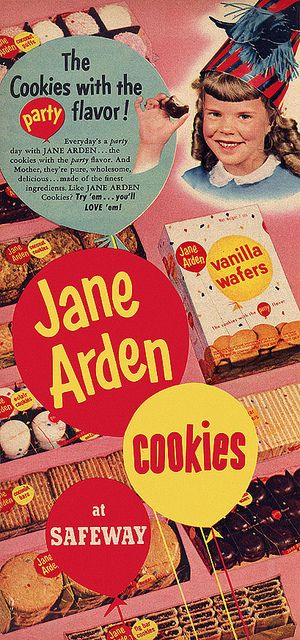 Jane Arden cookies - no relationship (best I know) to the singer of the same name.