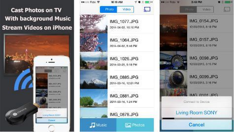 5 Free iOS Apps to Stream Videos and Photos to Chromecast TV from iPhone / iPad