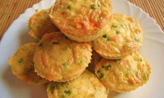 Zeleninové muffiny se sýrem