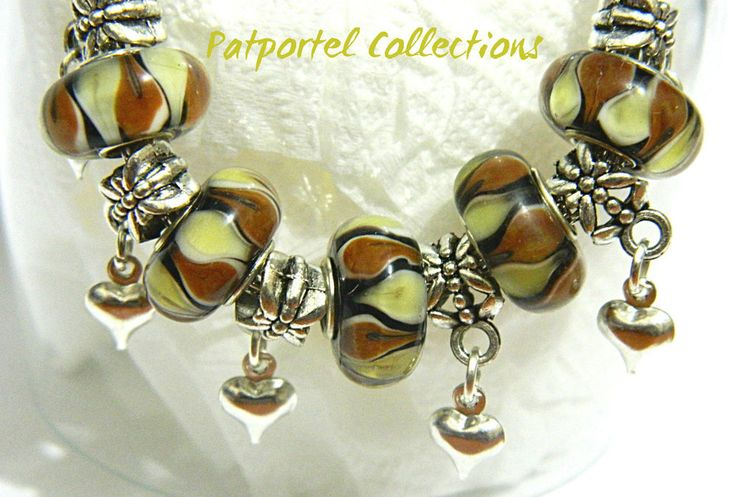 Beautiful Rolly Polly Silver Charm Bracelet