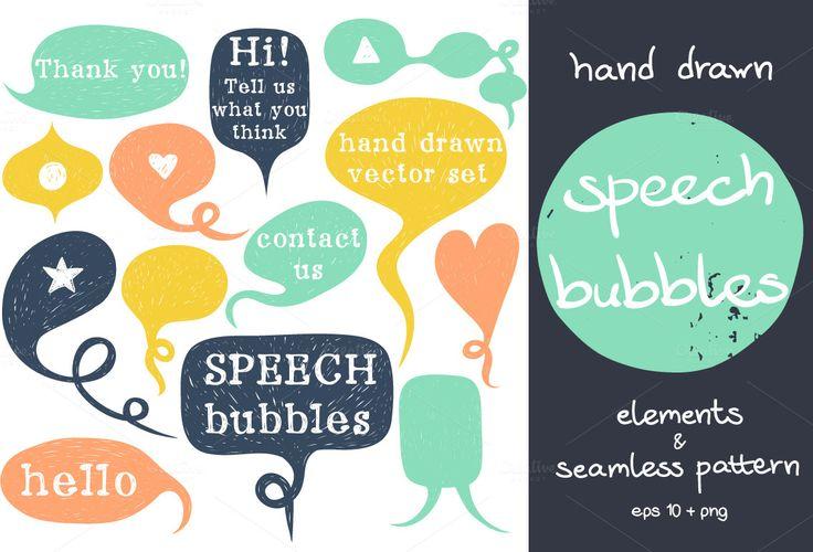 Speech Bubbles by TashaNatasha on Creative Market