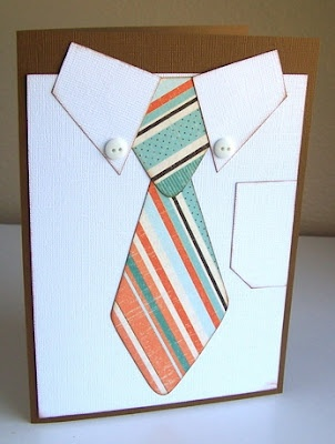 Father's Day Shirt and Tie card designed using Kiwi Lane Designer Templates.  Designed by Gail Owens.