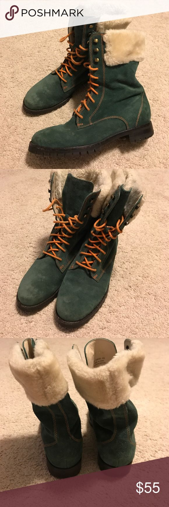 Cole Haan ladies leather boots 6.5 waterproof Super cute Cole Haan leather boots waterproof with Nike Air soles Cole Haan Shoes Lace Up Boots