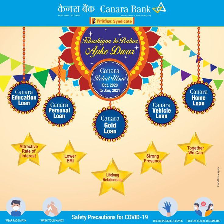 Canara Retail Utsav In 2020 Utsav Home Loans Personal Loans