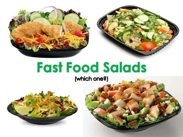 Healthy Salads From Fast Food Restaurants