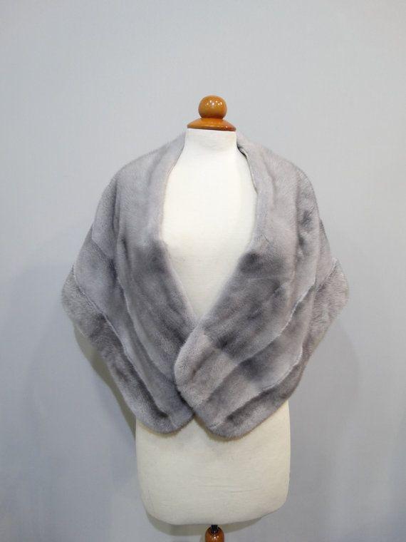 Wedding fur stolebig fur shawlReal mink fur by FilimegasFurs