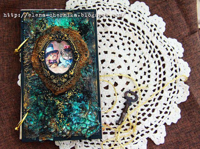 """Зачарованные скрапом: Вдохновляющий рассказ и блокнот от Лены Chernichka к творческому заданию """"Дух времени"""""""