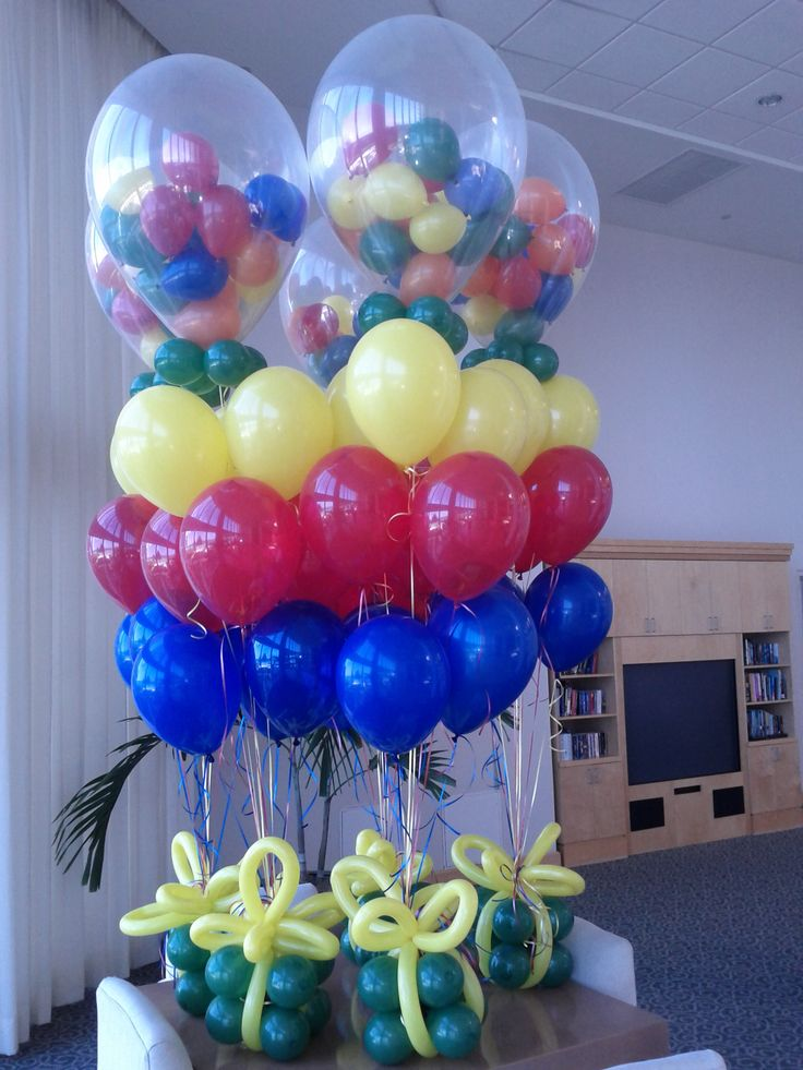 Balloons in balloon gift centerpiece dreamarkevents