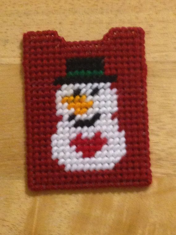 Snowman Gift Card Holder Plastic Canvas Snowman by ShanaysCreation