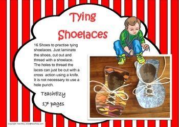 Shoelace Tying Cards