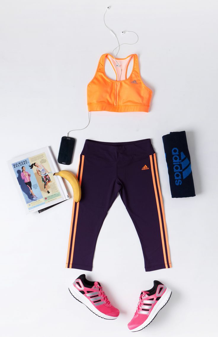 adidas performance, fitness flatlay, gym
