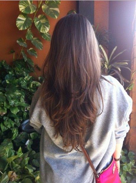 Lange Haare Frisuren Schnitt Stufenschnitt Pony Stufig Stufen