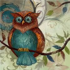 Image result for abstract owl paintings on canvas